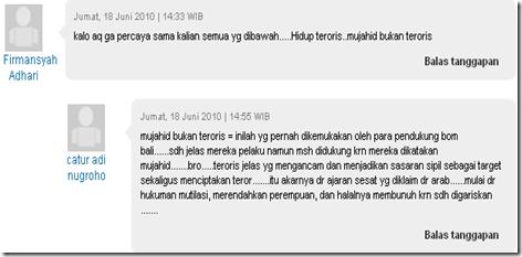 Catur Adi Nugroho Penghina Islam