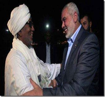 pertemuan pemimpin Hamas dan presiden Sudan