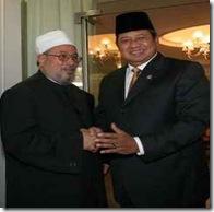 Syaikh Yusuf Qaradhawi dengan Sby